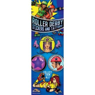 Roller Derby Stickers and Tattoos   300 pc.
