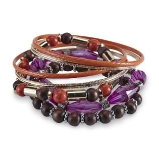 Jaclyn Smith Womens 7 Pack Stretch & Bangle Bracelets   Jewelry