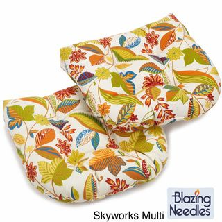 Blazing Needles Colorful Patterned All weather U shaped Outdoor Chair