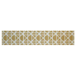 Trellis Geometric Print Gold Indoor/Outdoor Area Rug by e by design