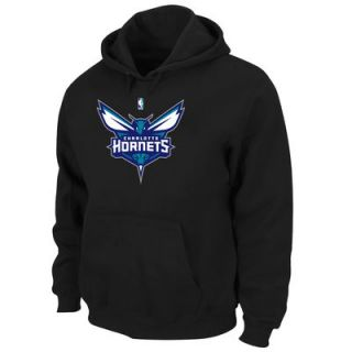 Majestic Charlotte Hornets Big and Tall Primary Logo Pullover Hoodie Sweatshirt   Black