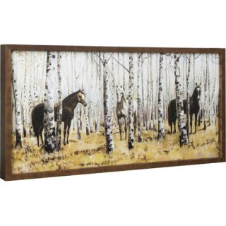 Hobbitholeco. Horse in Forest by Anastasia C. Framed Painting Print