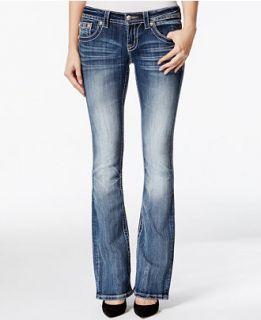 Miss Me Embellished Bootcut Medium Blue Wash Jeans