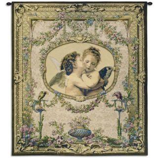 Fine Art Tapestries LAmour et Psyche Enfants Wall Tapestry   Wall Art