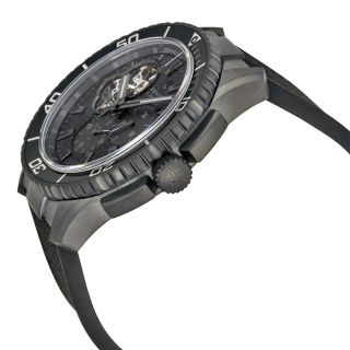 Zenith Stratos Spindrift Chronograph Carbon Fiber Dial Fabric Covered