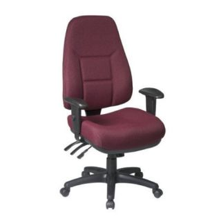 Office Star Products Worksmart High Back Office Chair with 2 Way Adjustable Arms