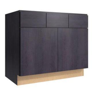 Cardell Fiske 36 in. W x 21 in. D x 31.5 in. H Vanity Cabinet in Ebon Smoke VSB362131.2.AF3M7.C64M