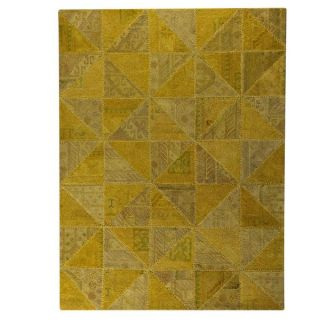 Trading Hand Tufted Indo Tile Light Gold Rug (710 x 910