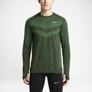 Nike Dri FIT Knit Long Sleeve Mens Running Shirt.