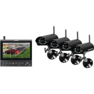 "Securityman 4 channel Digital Wireless Security System   4 X Camera, Monitor, Digital Video Recorder   7"" Lcd   Mpeg 4 Formats (digilcddvr4)"