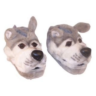 Comfy Feet Gray Wolf Animal Feet Youth Slippers