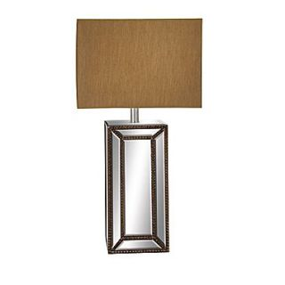 EC World Imports Urban Mirror Column 32 H Table Lamp with Rectangular Shade