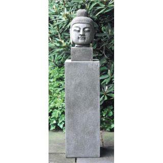 Medium Antique Buddha Head Garden Statue