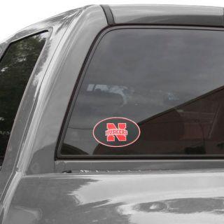 Nebraska Cornhuskers Carbon 8 x 8 Oval Repositionable Vinyl Decal
