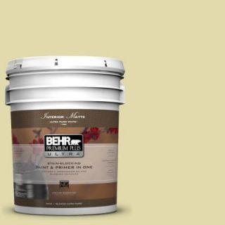 BEHR Premium Plus Ultra 5 gal. #400C 3 Dried Palm Flat/Matte Interior Paint 175005