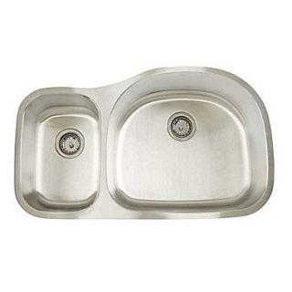 Artisan Sinks Premium Series 35 x 20.75 Double Bowl Undermount Kitchen Sink