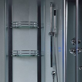 Platinum 3 kW Steam Shower with Whirlpool Bathtub by Ariel Bath
