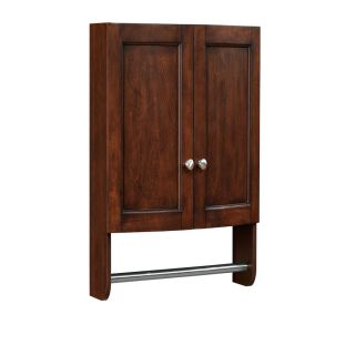 allen + roth Moravia 22 in W x 25 in H x 8.12 in D Sable Poplar Bathroom Wall Cabinet