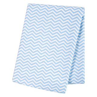 Trend Lab Blue Chevron Deluxe Flannel Swaddle Blanket   17485307