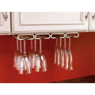 Rev A Shelf 2 in. H x 17 in. W x 11 in. D Under Cabinet Hanging Quad Wine Glass Holder in Oil Rubbed Bronze 3450 11ORB