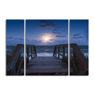 Blue Sunrise II by Bruce Bain 3 Piece Photographic Printt on Wrapped