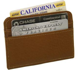 Piel Leather Slim Business Card Case 2848   Saddle
