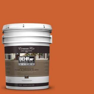 BEHR Premium Plus Ultra 5 gal. #S H 250 Pumpkin Patch Flat Exterior Paint 485305