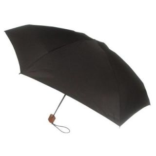 London Fog 42 in. Arc Canopy Mini Umbrella in Black 93601