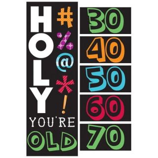 Pack of 6 Holy Beep Your Old Giant Party Decoration Banner with Stickers