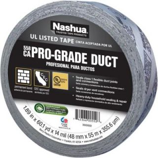 Nashua Tape 1 7/8 in. x 60 yd. 558CA Pro Grade UL Listed Duct Tape 1207786