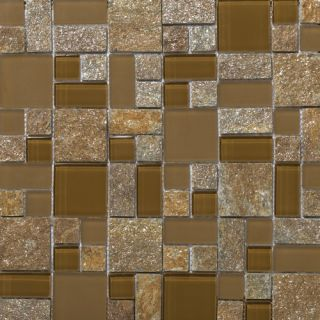 Lucente Random Sized Stone and Glass Mosaic Tile in Venezia by Emser