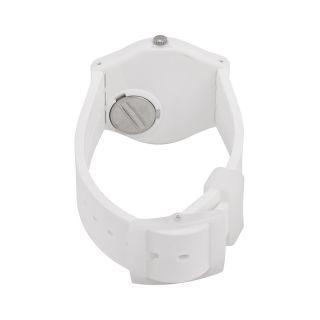 Swatch Yrettab Light Grey Dial White Silicone Unisex Watch Item No