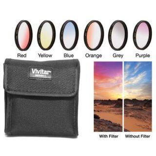 Vivitar 49mm Graduated Color Multicoated Filter Set VIV FKGR6 49