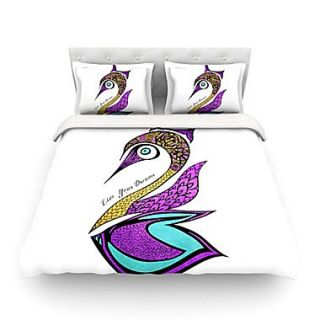 KESS InHouse Dreams Swan by Pom Graphic Design Featherweight Duvet Cover; Twin