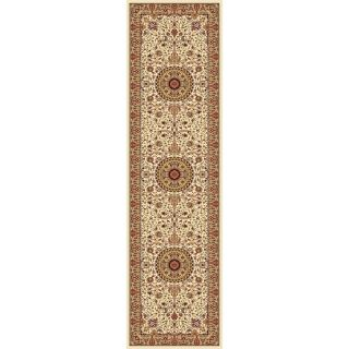 Concord Global Cyrus Ivory Rectangular Indoor Woven Oriental Runner (Common: 2 x 8; Actual: 26 in W x 94 in L x 2.17 ft Dia)