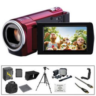 JVC GZ E10 Full HD Everio Camcorder (Red) with Advanced