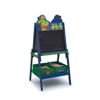 Ninja Turtles Wooden Double Sided Activity Easel with Storage by Delta
