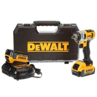 DEWALT 20 Volt Max Lithium Ion 1/2 in. Cordless Impact Wrench Kit DCF880M2