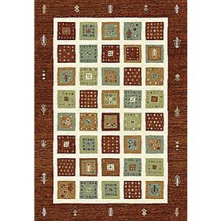 Dynamic Rugs Infinity Red/Beige Area Rug; 53 x 77