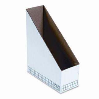Bankers Box® Corrugated Cardboard Magazine File, 3 7/8 x 9 1/4 x 11 3