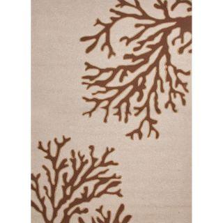 Hand hooked Indoor/ Outdoor Brown Abstract pattern Polypropylene Rug