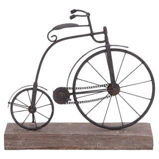 DecMode Metal and Wood Bicycle Sculpture   Sculptures & Figurines