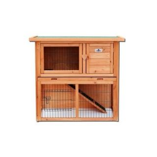 "Confidence Pet 36"" 2 Tier Rabbit Hutch Bunny Guinea Pig Cage Pen Built In Run"