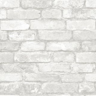 Peel and Stick Wallpaper, Grey and White Brick