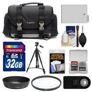 Canon 200DG Digital SLR Camera Case Gadget Bag with 32GB Card + LP E8 Battery + Tripod + UV Filter + Hood + RC 6 Remote Kit for Rebel T3i, T4i, T5i & 18 55mm IS Lens