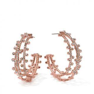 Joan Boyce Open Multi Hoop Crystal Earrings   7532788