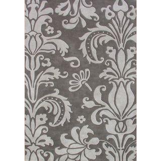 Alliyah Handmade Grey New Zealand Blend Wool Rug (4 x 6)