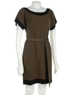 Max & Cleo Jersey Belted Smock Hunter Green Dress   11086783