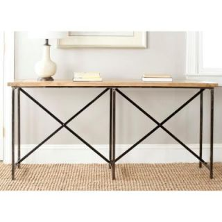 Safavieh American Home Collection Simon Console Table in Natural Color AMH4126A