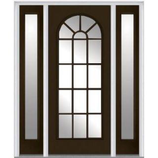 Milliken Millwork 32 in. x 80 in. Carrollton Decorative Glass 2 Lite Majestic Painted Steel Prehung Front Door Z007704R